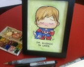 Super Custom Emo Friend 5x7 FRAMED free US shipping only