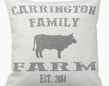 Personalized Family Farmhouse Pillow Cover