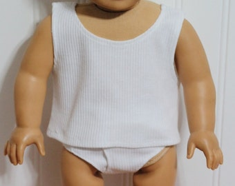 """Boy Doll Clothes Tank Top and Briefs Fit 18"""" BOY Dolls - Proudly Made in America"""