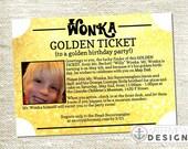 willy wonka golden birthday invite // diy printable invitation