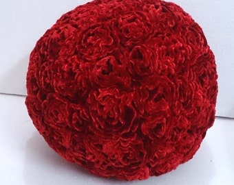 Red Boho gift- rose velvet pillow-Flower Boho Gifts-Moana Party nursery decor baby pillow sofa pillow bedroom decor wedding home decor gift
