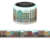 Mark's Japanese Washi Masking Tape / Apatrments 25mm wide for packaging, party deco, crafting