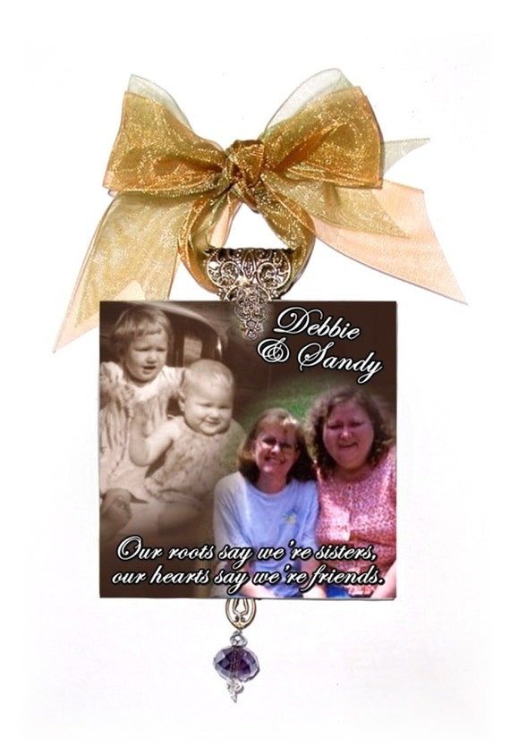 Personalized christmas ornaments glass photo memorial for Personalized christmas photo ornaments