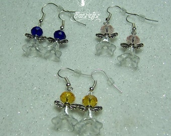 Flower Fairy glass earrings