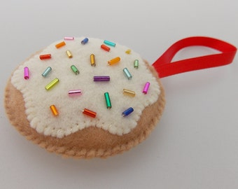 Sugar Cookie with Sprinkles Christmas Ornament