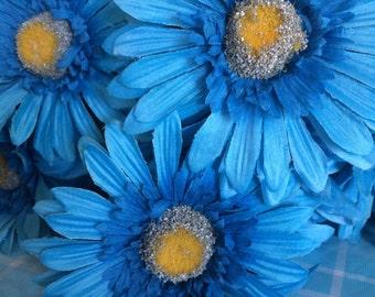Blue Sky Flower Pens Set of 18 Carribean Summer Gerber Daisies Bridal Shower Wedding Party