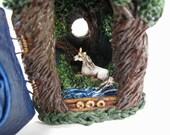 Old forest unicorn miniature scene box