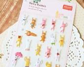Beny Rabbit cartoon puffy stickers