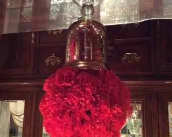 Red Carnation Flower Ball, Wedding Table Centerpiece, Red Flower Ball, Carnation Pomander Ball, Wedding Table Decoration, Holiday Decoration