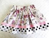 Girls Paris in Spring Skirt