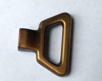 vintage mock key pull antique brass