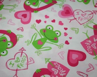 I love Frogs Fabric 1 yard