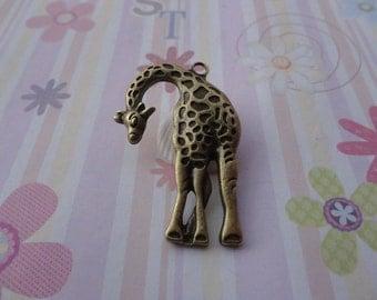10pcs antique bronze giraffe findings 43x30mm