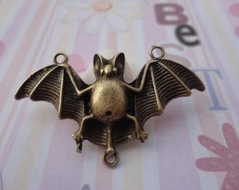 10pcs antique bronze bat findings 47x27mm