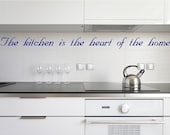 The kitchen is the...Kitchen Wall Quotes Sayings Words Lettering Decals