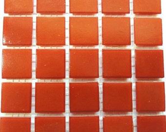 "20mm (3/4"") Bright Orange Vitreous Glass Mosaic Tiles//Mosaic Supplies//Mosaic// Craft Supplies"