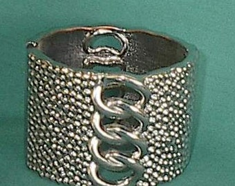 Cuff bracelet Stainless over copper.