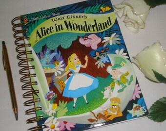 2017 12 Month  Calendar A Little Golden Book Disney Alice In Wonderland Planner /Journal  Original Book Pages Included