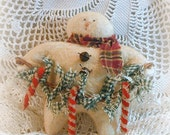 Candy Cane Lane Snowbaby ~~ Primitive Snowman ~~ Primitive Christmas ~~ Primitive Ornament ~~ Prim Home Decor ~~ DTHFAAP ~~OFG Team ~ Yule