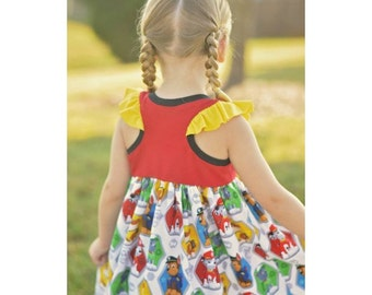 Road Trip Racerback PDF Sewing Pattern, including sizes 12months-14 years