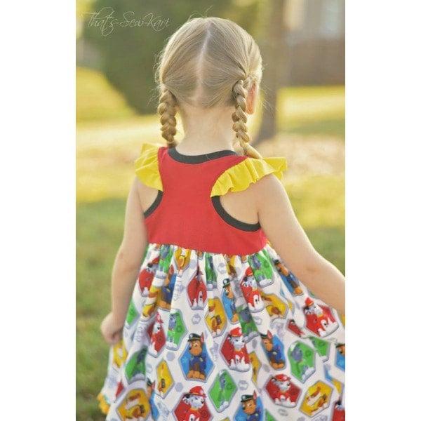 Girls Dress Pattern Knit Dress Pattern Easy by ...