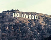 Hollywood Sign, Los Angeles Photograpy- Brown Beige Mint Wall Art- Neutral California Print- Los Angeles- Movie Office Decor