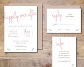 Wedding Invitation Suite, Wedding Invitations, Happily Ever After, Wedding Invitations, Wedding Invitation Set, Summer Wedding