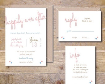 Wedding Invitation Suite, Wedding Invitations, Happily Ever After, Wedding Invitations, Wedding Invitation Set, Summer Wedding