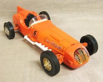 Remco Shark , Toy Car , Cars , Transportation , Orange , Race Car , Racecar , Vintage Toys , Vehicle , Hot Rod , Speed Racer , Racer , Cars