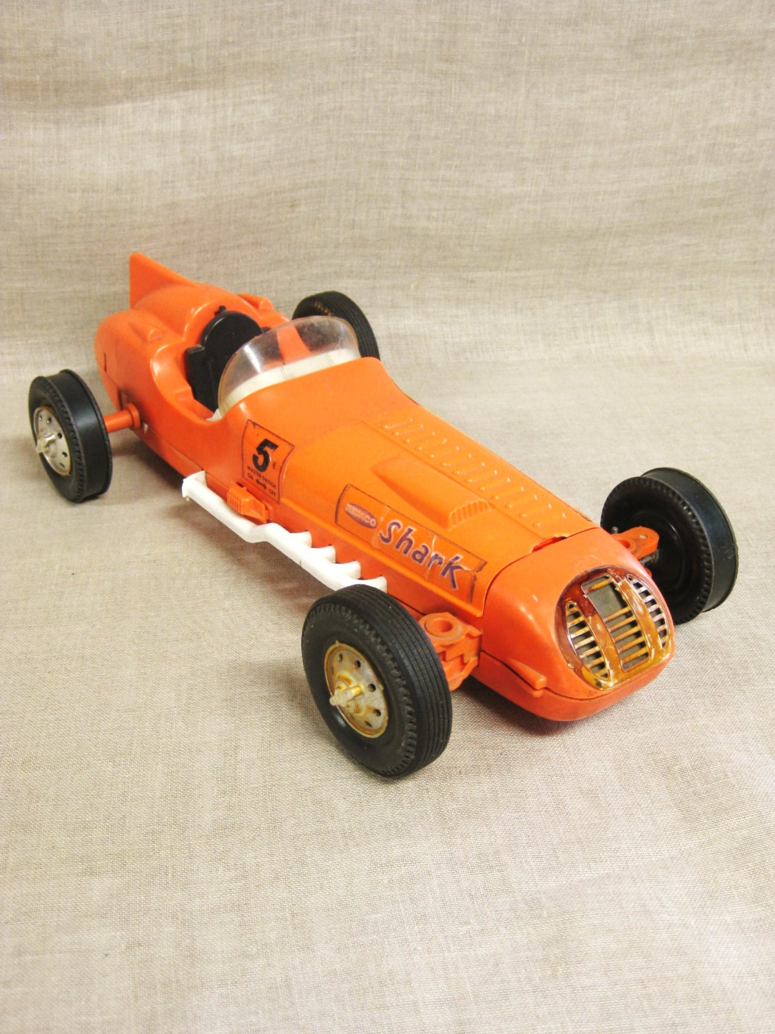 Toy Race Cars : Remco shark toy car cars transportation orange race