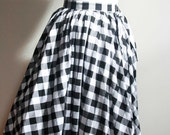Gingham circle skirt made to order