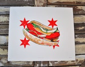 Chicago Hot Dog Print