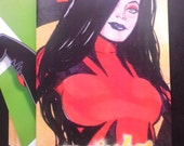 Majesty Issue 2 Print comic book Signed art bundle by Boo Rudetoons Superhero comedy nude erotic