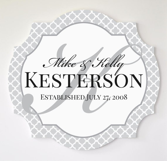 Personalized Family Name Sign 20x20
