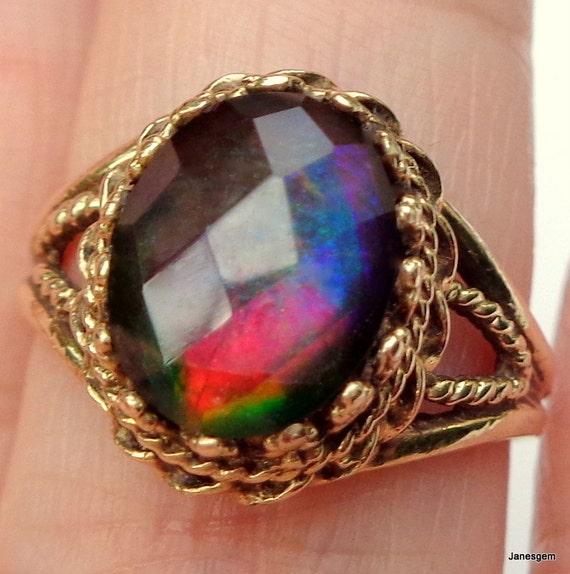 Purple Ammolite Ring