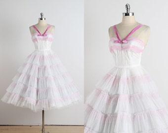 Emma Domb . vintage 1950s dress . vintage cocktail dress . 4496