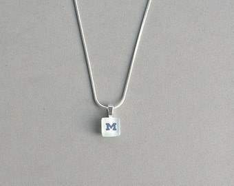 Blue U of M Necklace