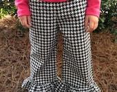 Houndstooth ruffle pants 2T,3T,4T, 5yr, 6y 7yr