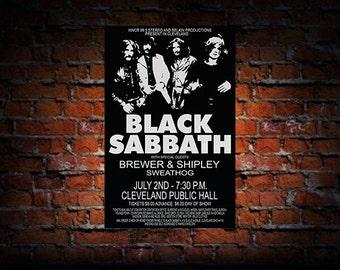 Black Sabbath 1971 Cleveland Concert Poster