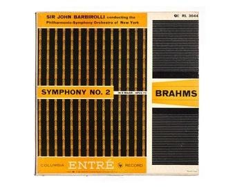 """Ronald Clyne record album design, c.1950s. """"Brahms: Symphony No. 2 in D Major"""" LP"""