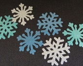 Glitter-Iron-On-Snowflake Appliques-Prussian Blue-Silver-Ocean Blue -Frozen Princess Inspired-Glitter Heat Transfer-Iron-On Vinyl Applique