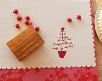 Naive Christmas Tree in Pot