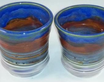 Rainbow Tumblers:  Set of Two with two variations