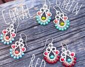 Succulent Earrings, Drop Earrings, Everyday Earrings, Boho Chic