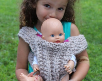 KNITTING PATTERN- Baby Doll Carrier knitting pattern PDF