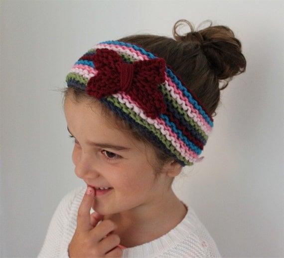 Head Warmer Knitting Pattern : KNITTING PATTERN The Butterfly Head Warmer by theknittingniche