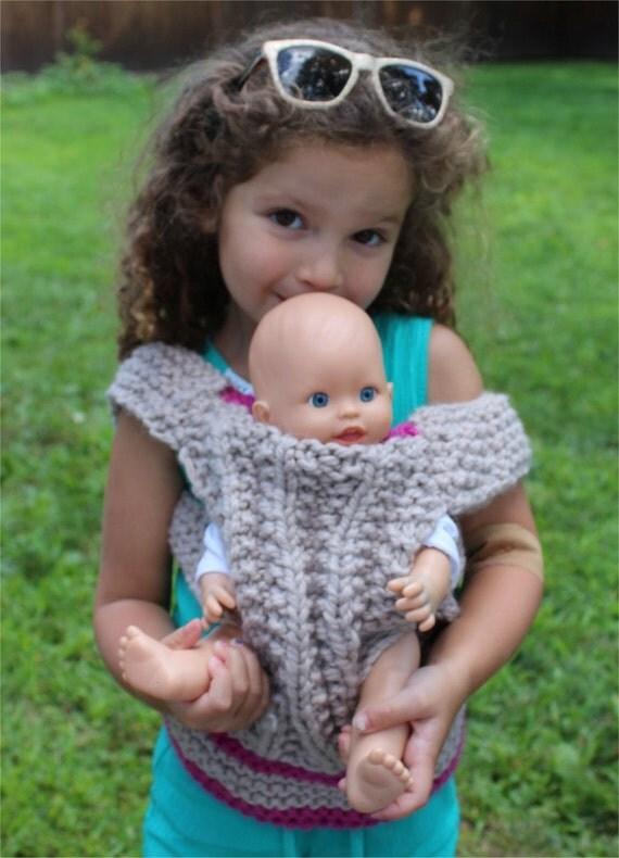 Knitting Pattern For Doll Carrier : KNITTING PATTERN Baby Doll Carrier knitting pattern PDF