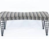 Modern Upholstered Bench, Handmade Original