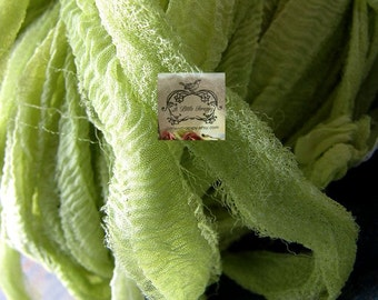 Chartreuse Silk Chiffon Ribbon