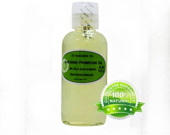 4 OZ Evening Primrose Oil 100% Pure Organic Cold Pressed